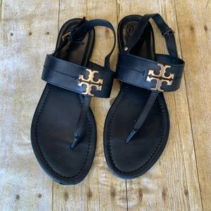 "Tory Burch ""Bryce"" thong leather sandals"